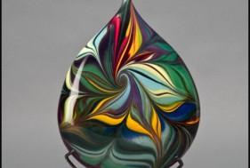 Glass Marbeling Art Piece