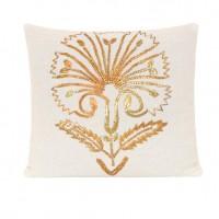 Lavander Cushion Ottoman Tulip Design