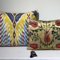 Tribal vintage Suzani silk cushion