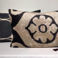 Velvet / Ikat Cushion